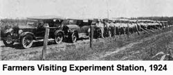 Farmers visiting Experiment Station, 1924